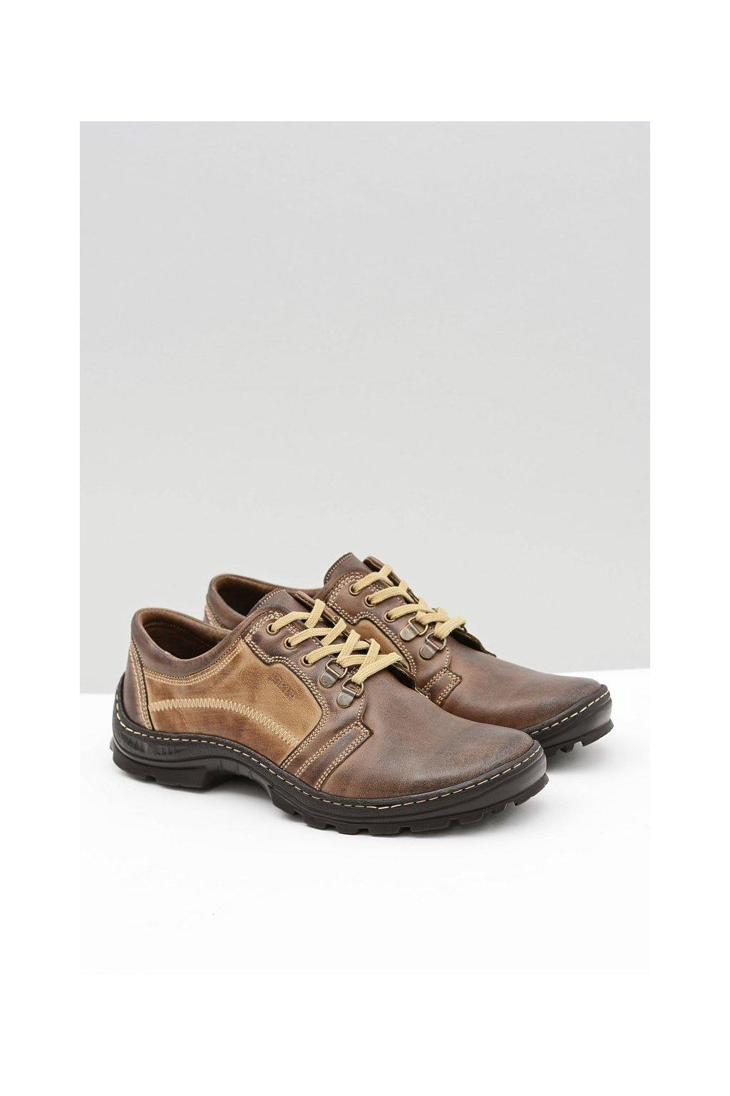 Pánske poltopánky farba hnedá kód obuvi 192 BROWN