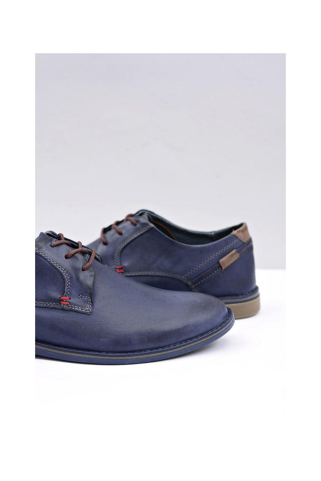 Pánske modré kožené topánky Freddy