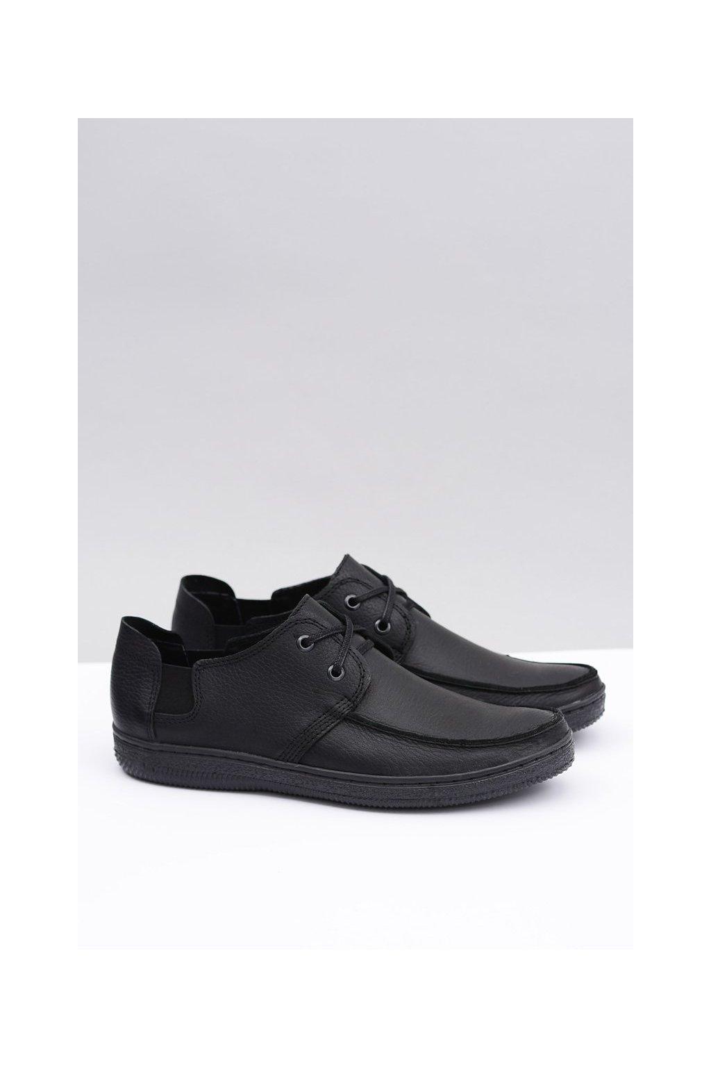 Pánske poltopánky farba čierna kód obuvi M-1 BLK FL