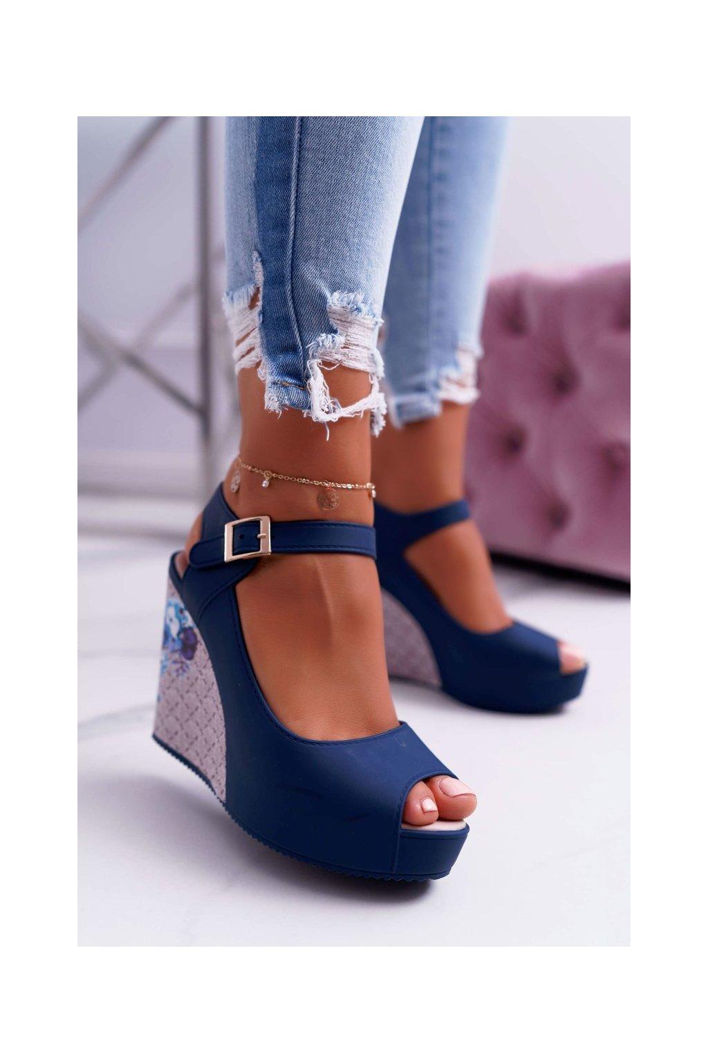 Dámske námornické modré sandále Nemesis