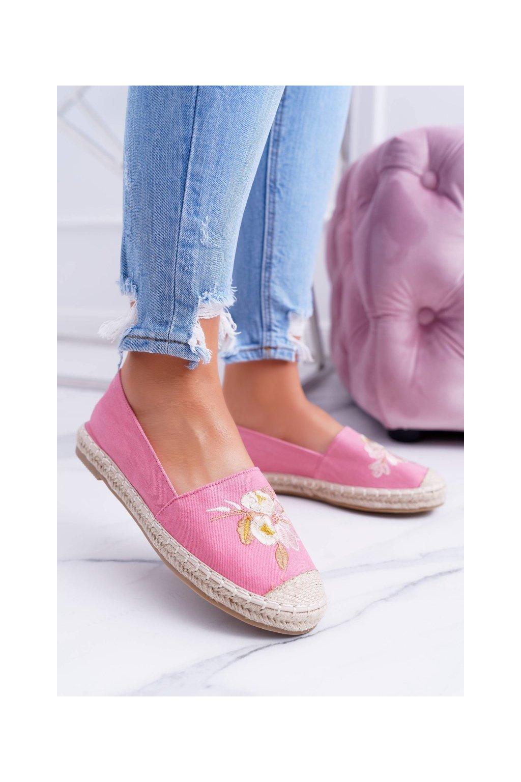 Dámske espadrilky farba ružová kód obuvi LX-3A369-20 PINK