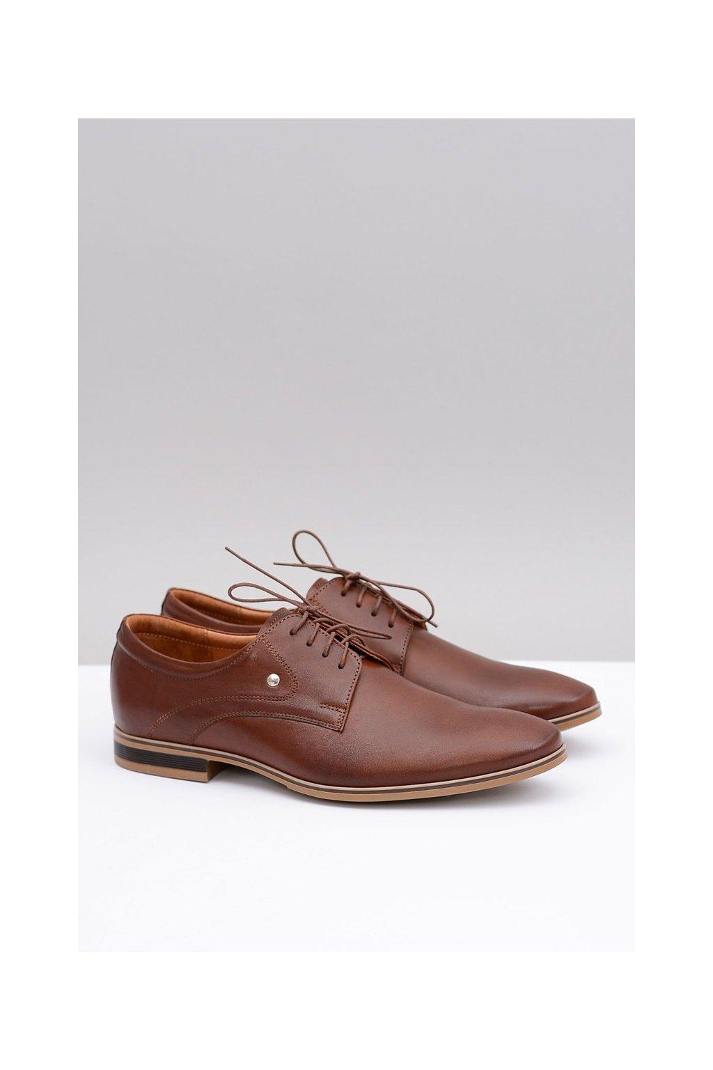 Pánske poltopánky farba hnedá kód obuvi 579 BR