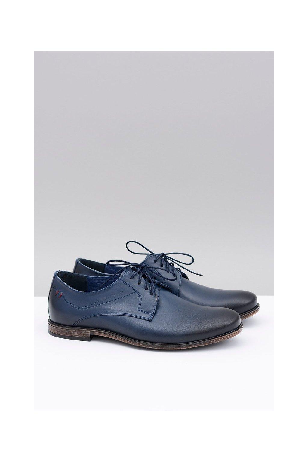 Pánske poltopánky farba modrá kód obuvi 1617 NAVY