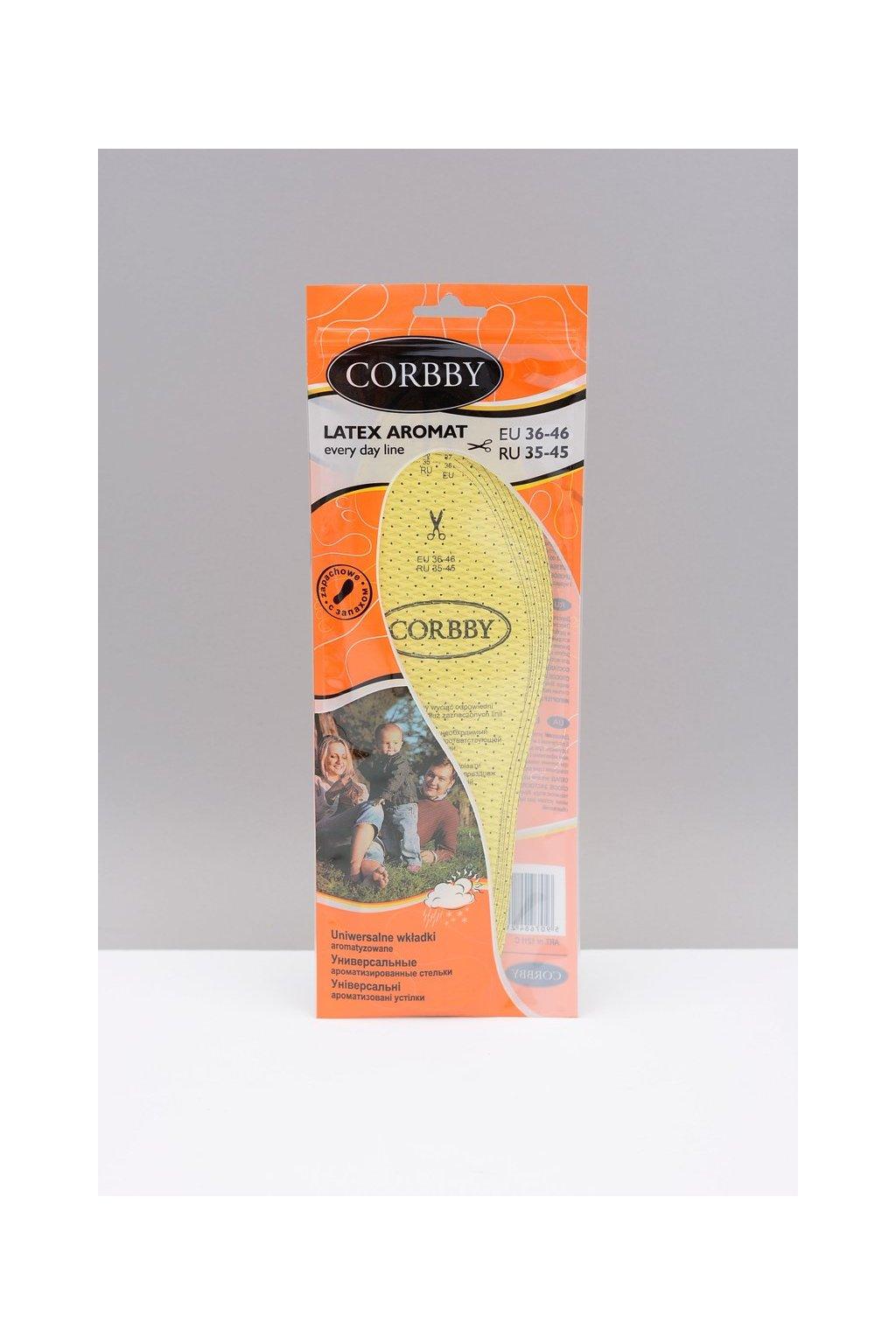 Vložky do topánok stielky kód 1211 CORBBY LATEX AROMAT