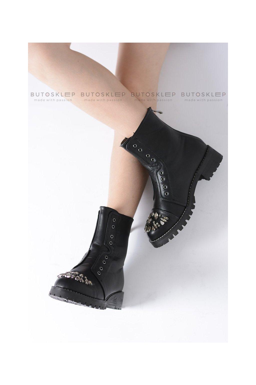 Detské členkové topánky farba čierna kód obuvi XW37279C BLK PU