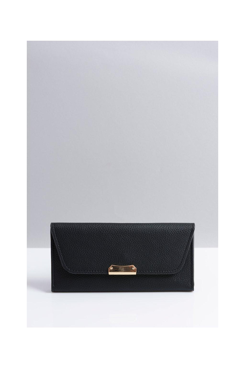 Štýlová veľká čierna dámska peňaženka
