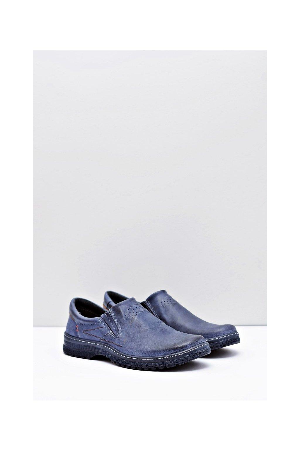 Pánske poltopánky farba modrá kód obuvi 869 NAVY