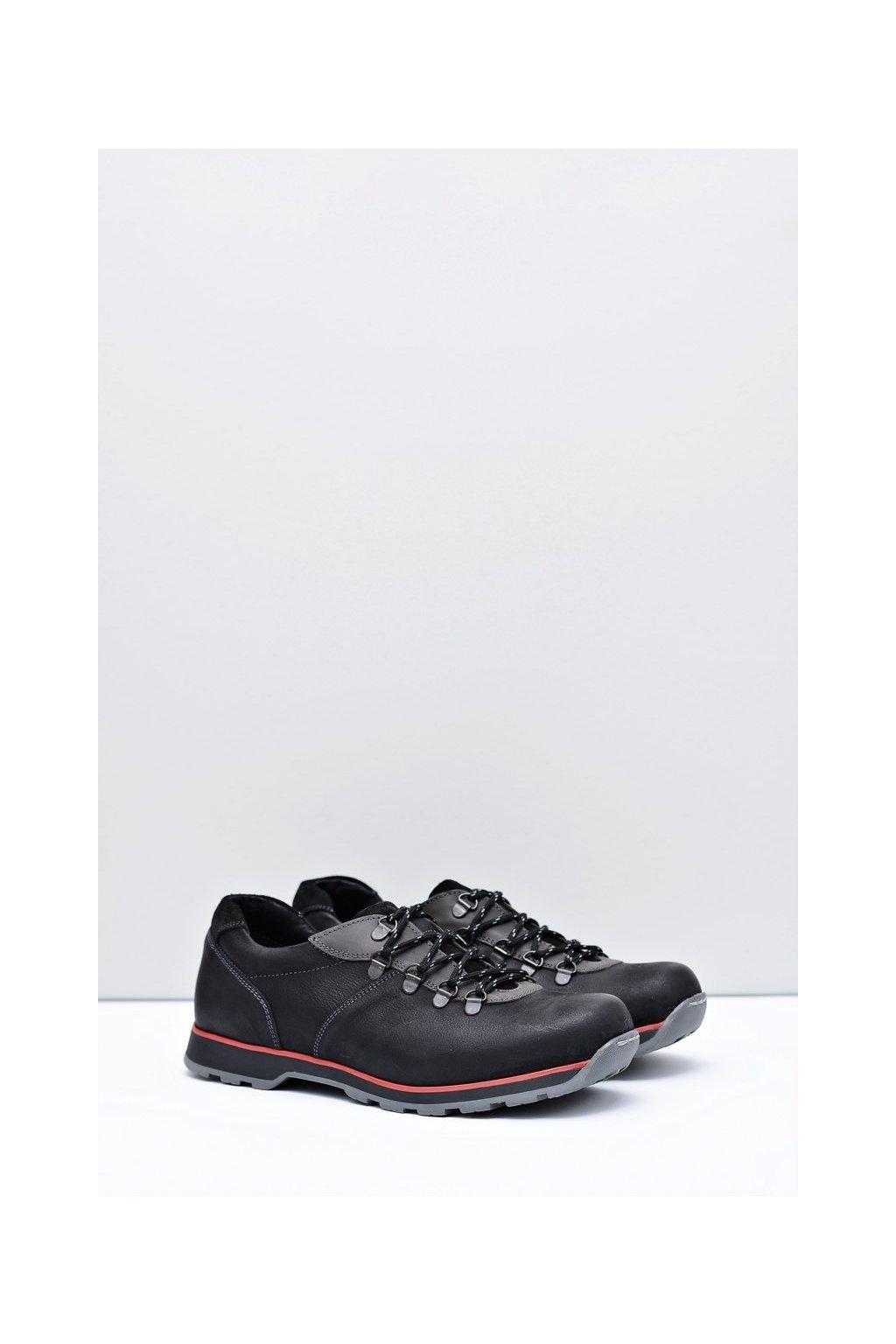 Pánske poltopánky farba čierna kód obuvi 866 BLK