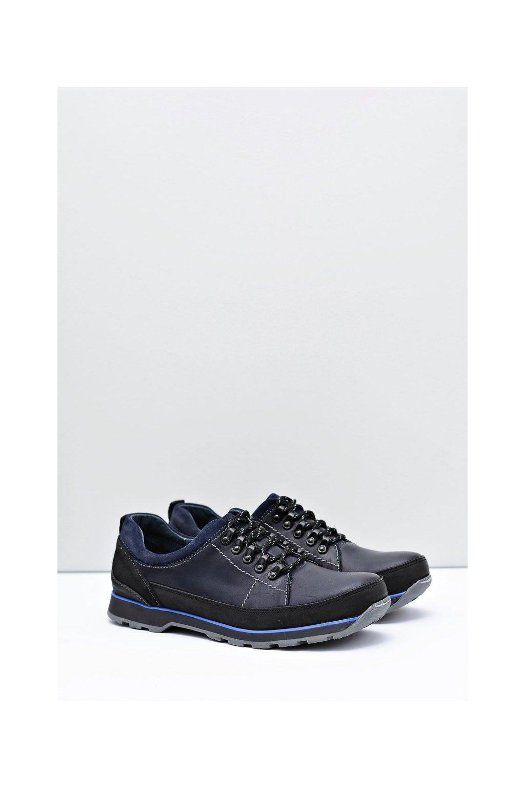 Pánske poltopánky farba modrá kód obuvi 867 NAVY
