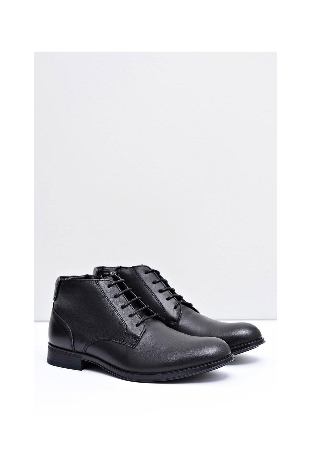 Pánske topánky na zimu farba čierna kód obuvi 7MN220051 BLK