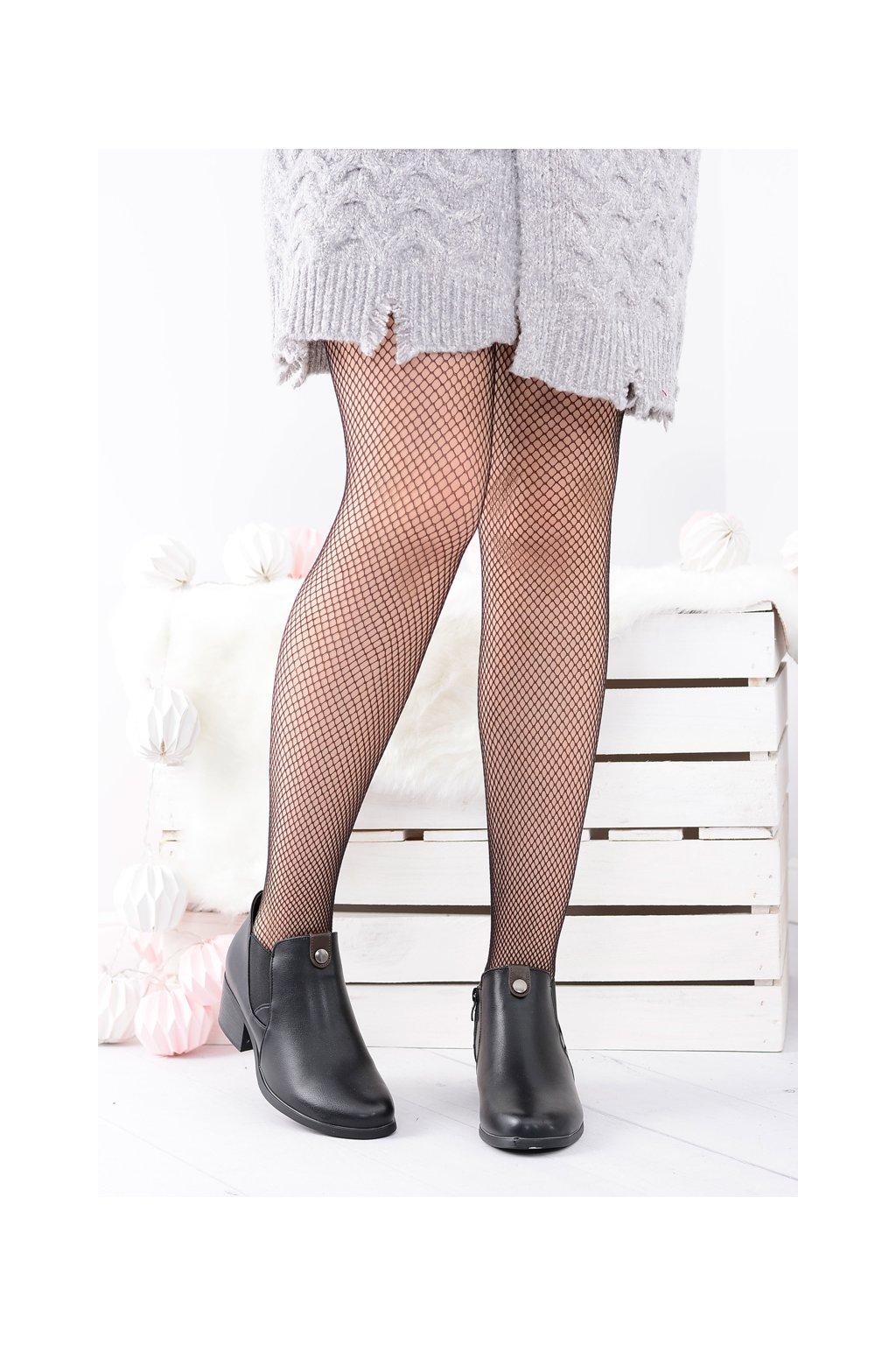 Topánky dámske čierne Flat Heel Elian