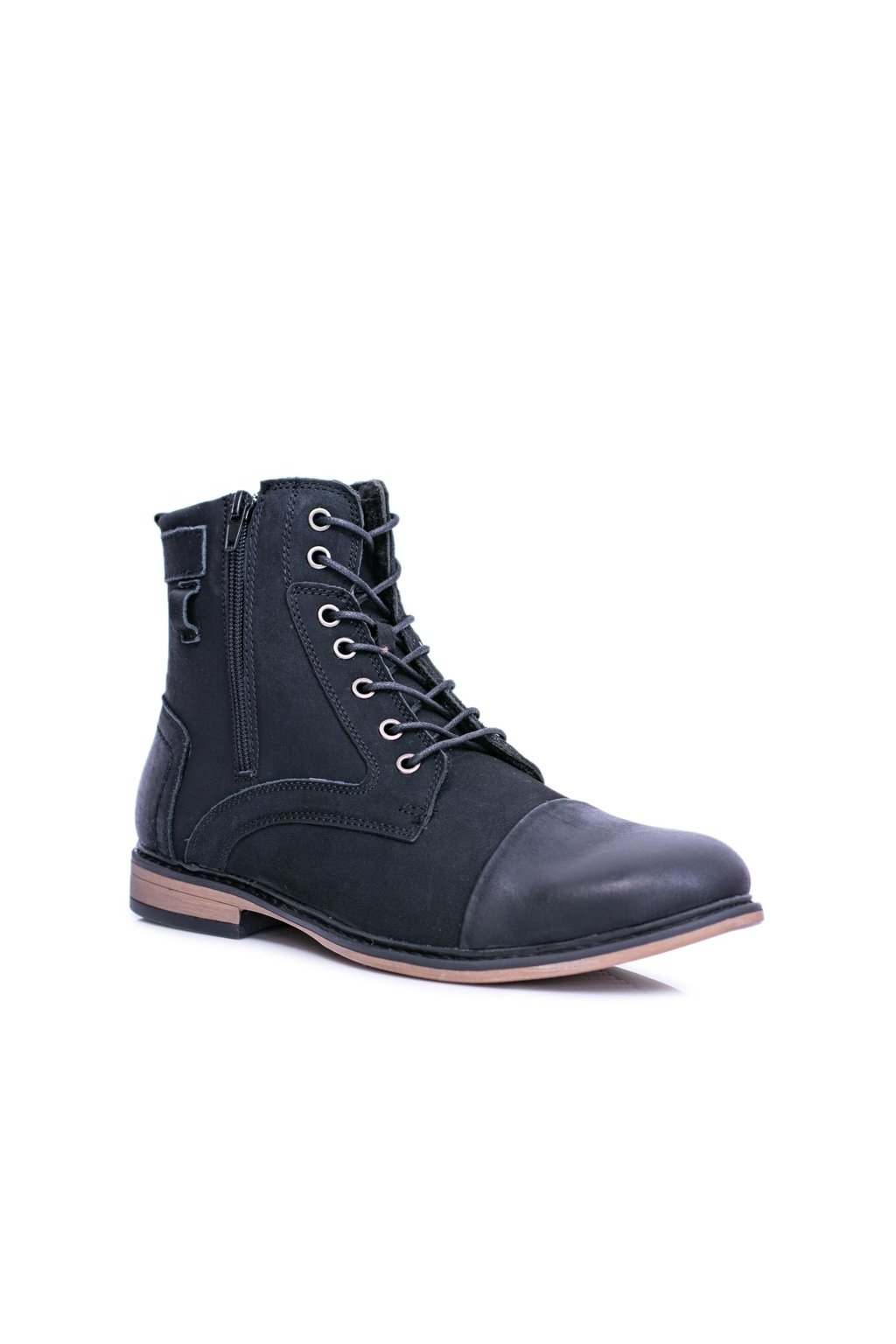 Pánske kožené teplé topánky so zipsami Grendy