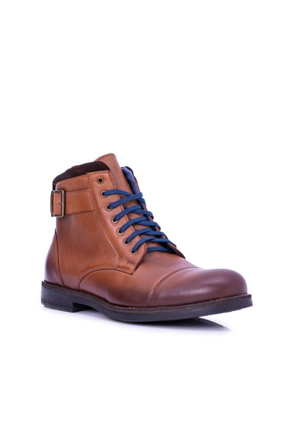 Pánske topánky na zimu farba hnedá kód obuvi 659 BROWN