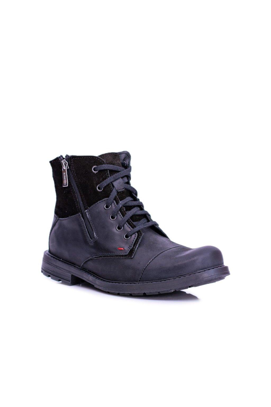 Pánske topánky na zimu farba čierna kód obuvi 871 BLK