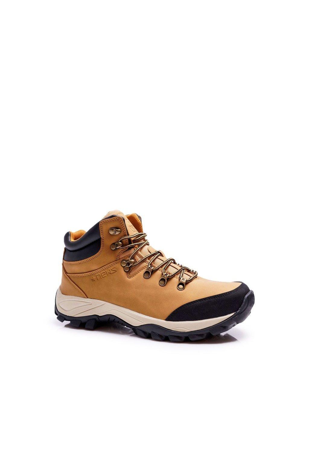 Pánske trekingové topánky farba hnedá kód obuvi 7TR85-0099 CAMEL