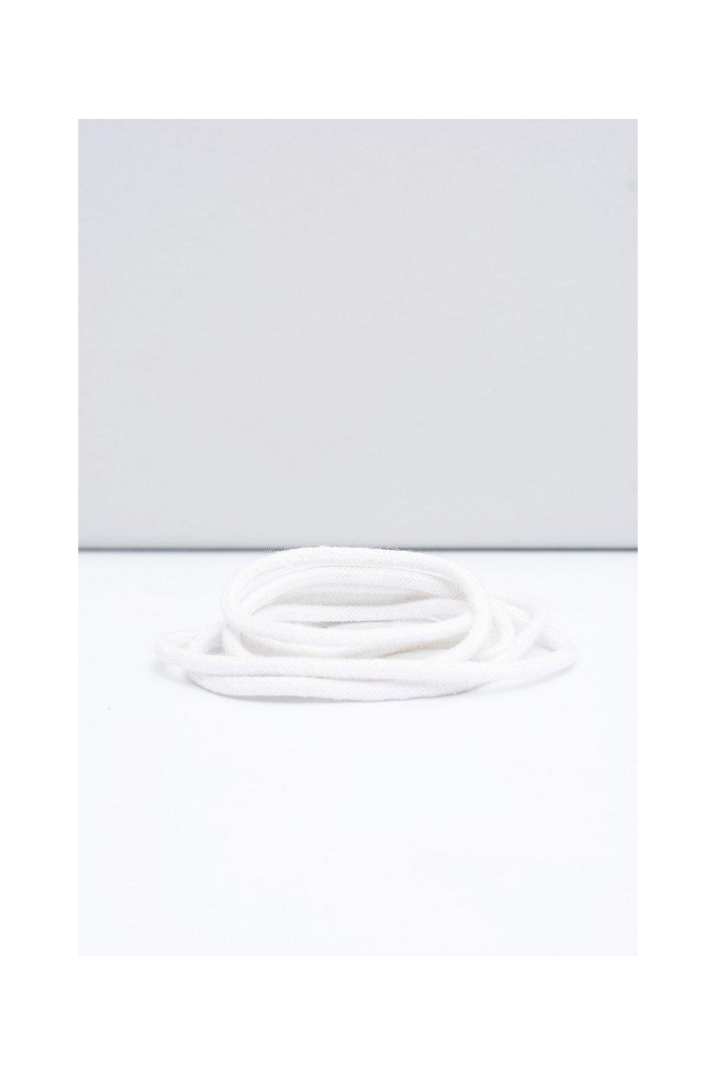 Šnúrky do topánok farba biela kód Okrągłe białe