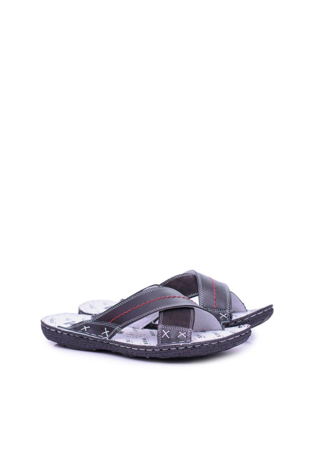 Pánske šľapky farba čierna kód obuvi 236-378 BLK