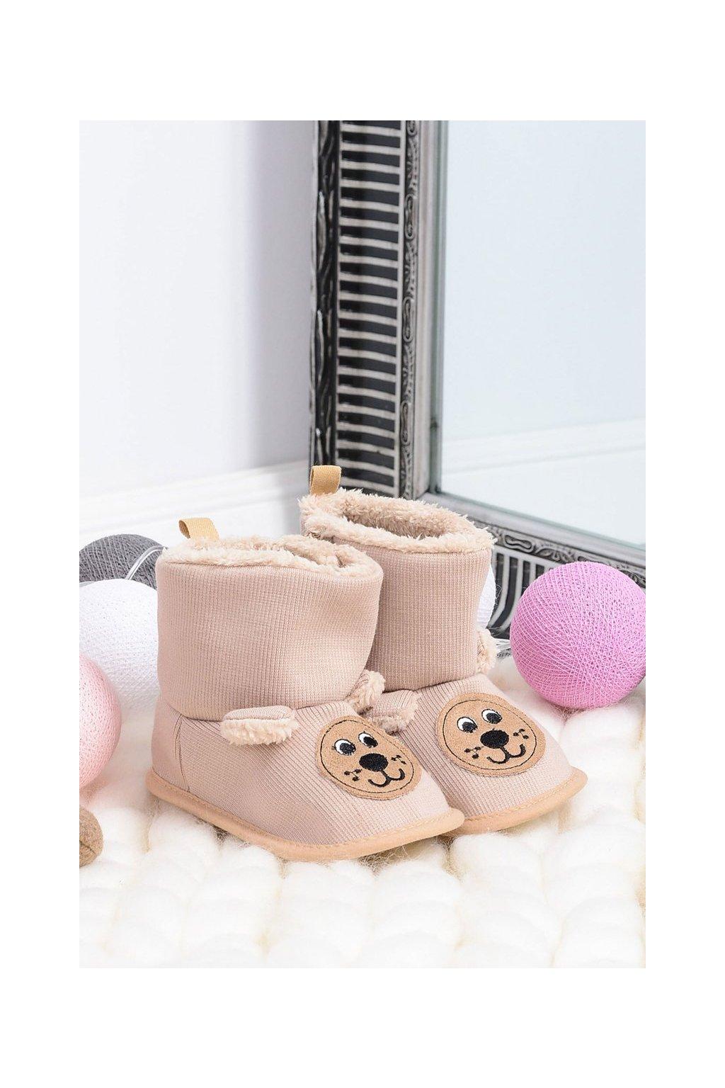 Teplé papuče SOXO béžové