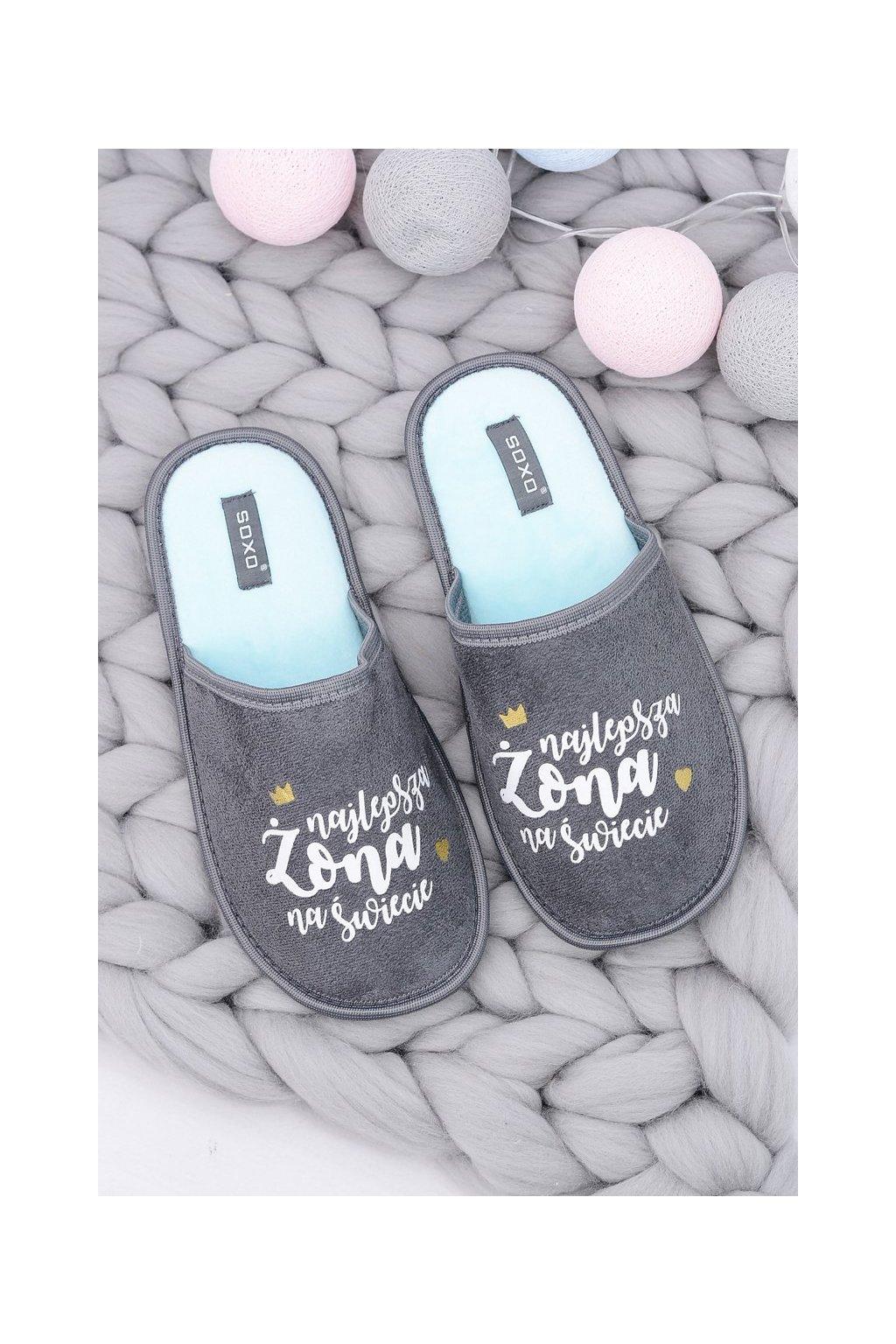 Dámske šľapky farba sivá kód obuvi 93355C GREY