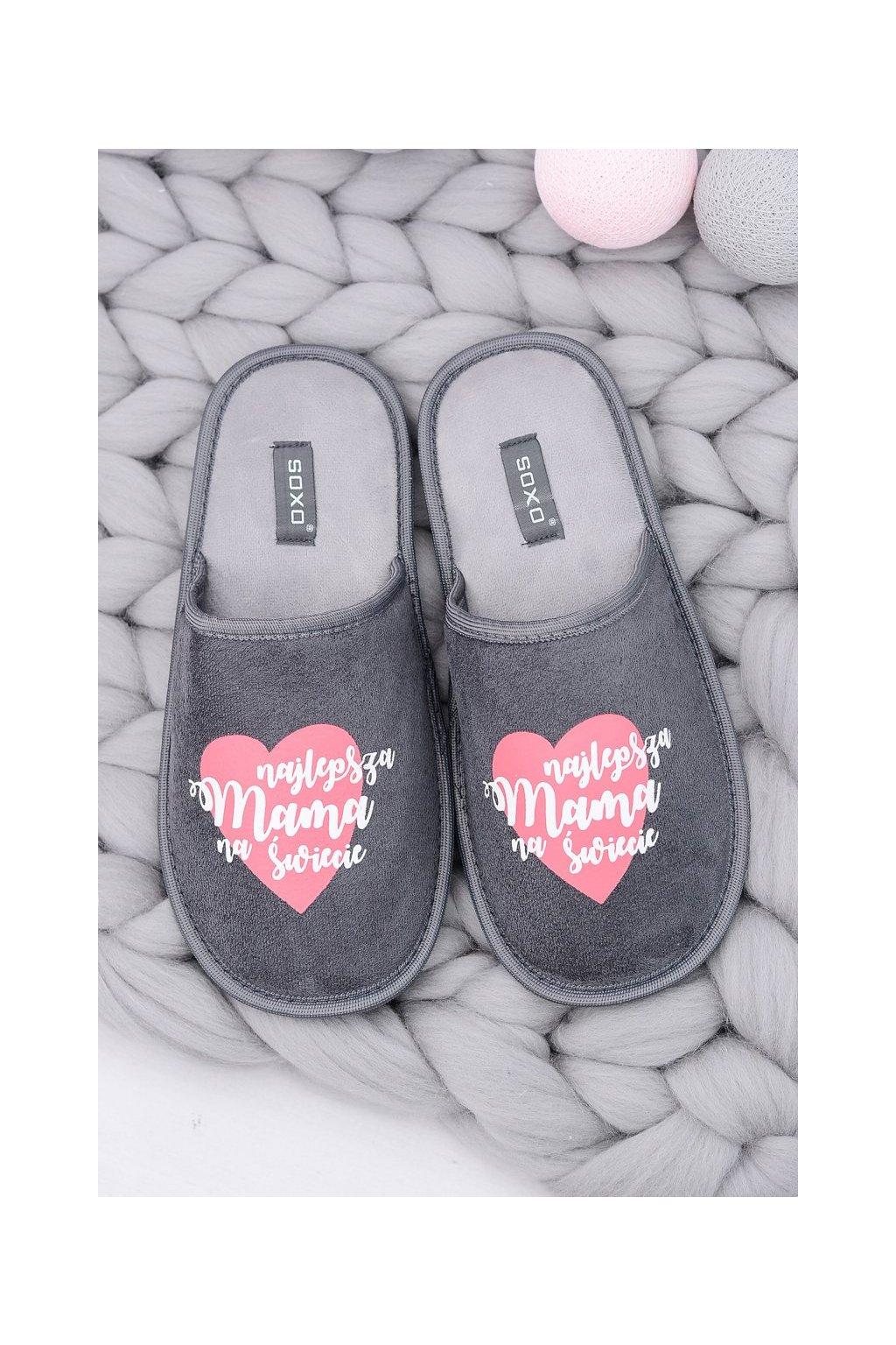 Dámske šľapky farba sivá kód obuvi 93355A GREY