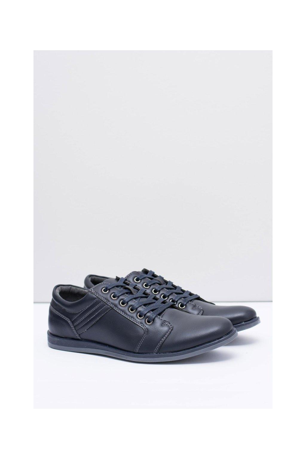 Pánske poltopánky farba modrá kód obuvi 9F-BK163889 NAVY