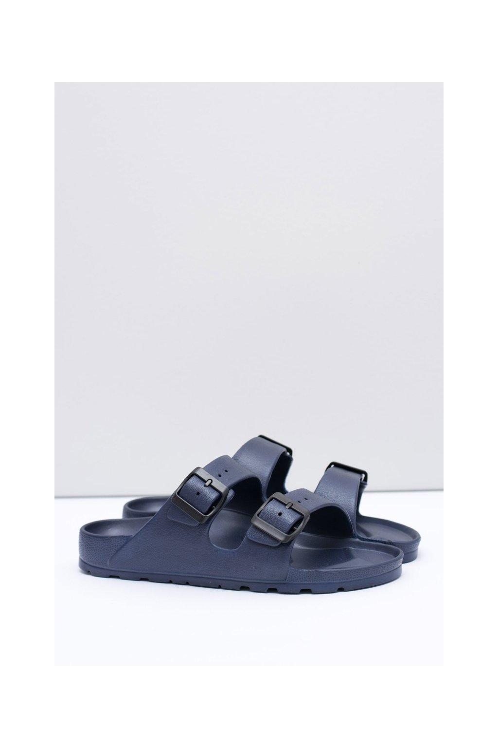 Pánske šľapky farba modrá kód obuvi B-1015 D.BLUE