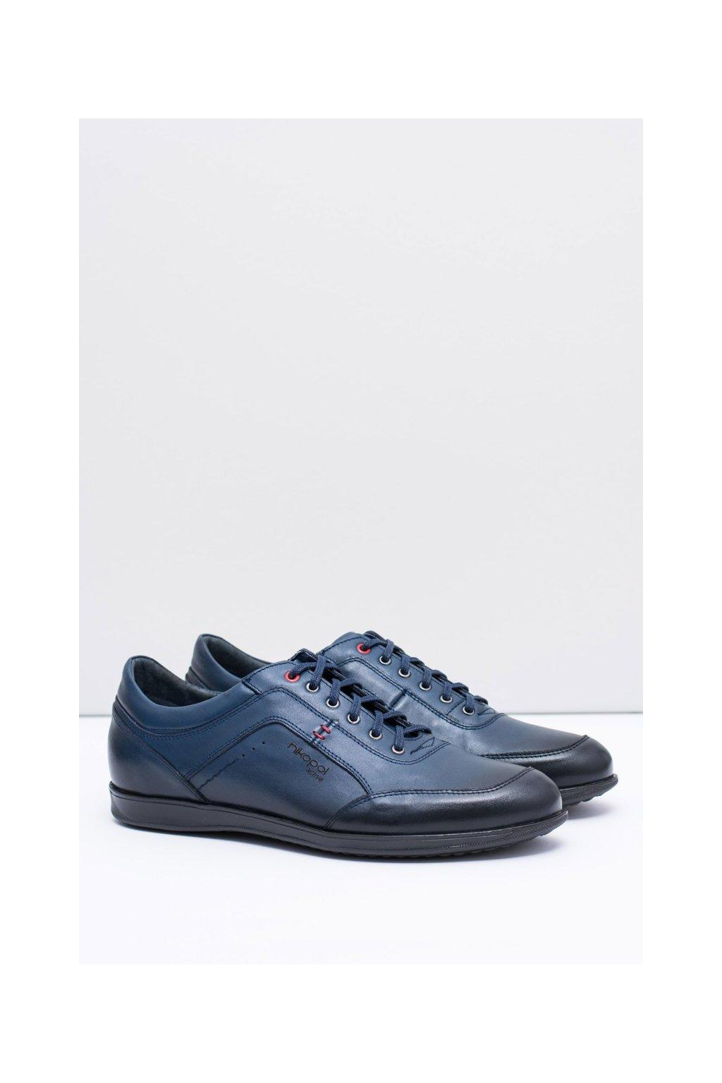 Pánske poltopánky farba modrá kód obuvi 1651 GRANAT R.5