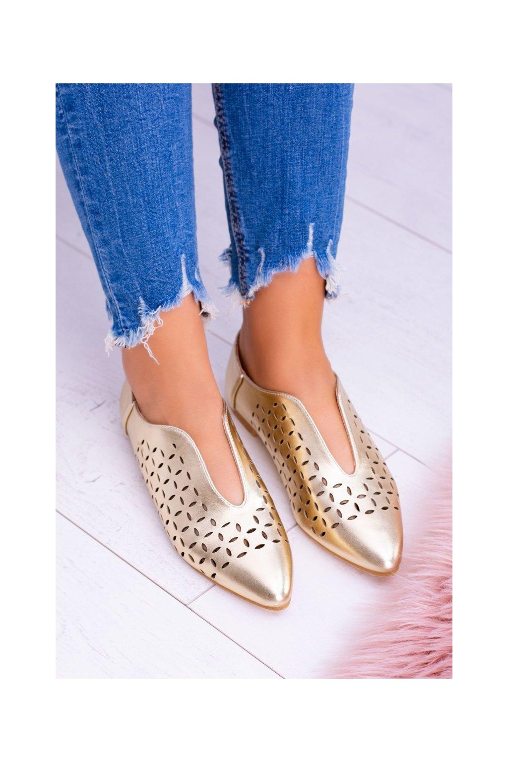 Dámske poltopánky farba žltá kód obuvi 978-C10 GOLD