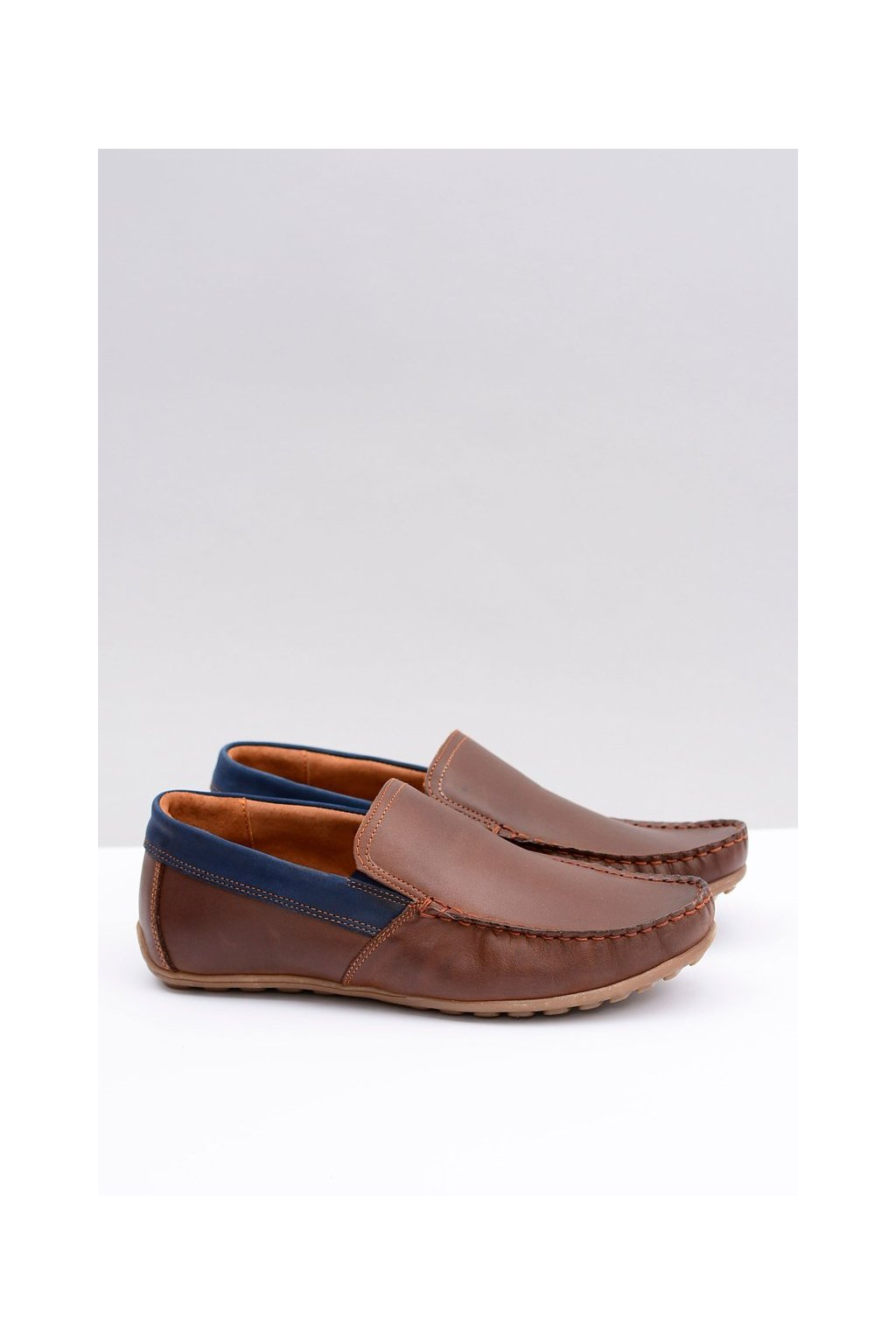 Pánske poltopánky farba hnedá kód obuvi 145 ORZECH / GRANAT