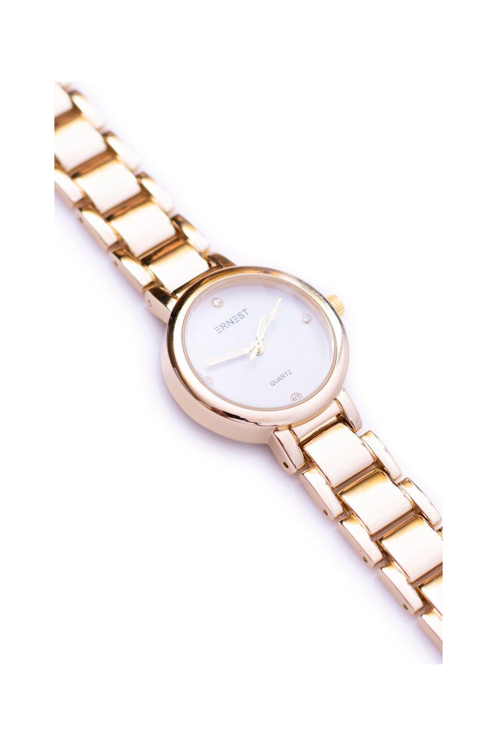 Ernest dámske zlaté hodinky GoldWorld