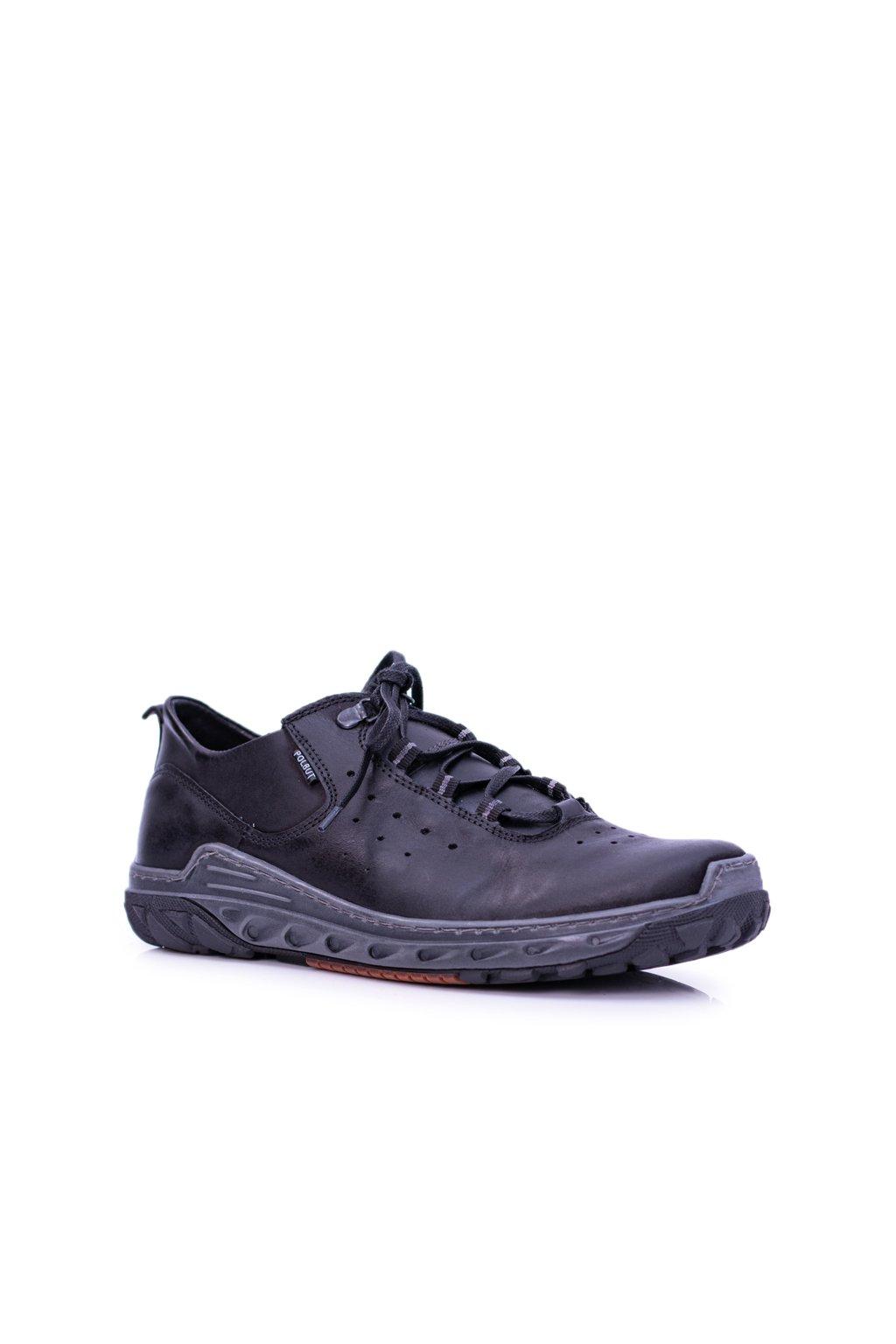 Pánske poltopánky farba čierna kód obuvi E1 BLK