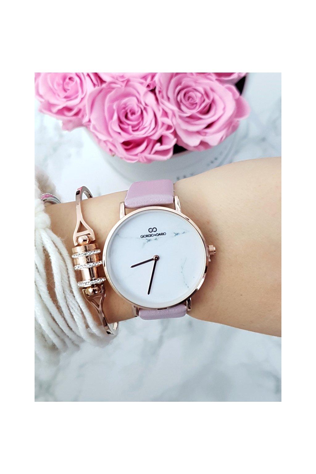 Dámske hodinky Giorgio & Dario Murato ružové