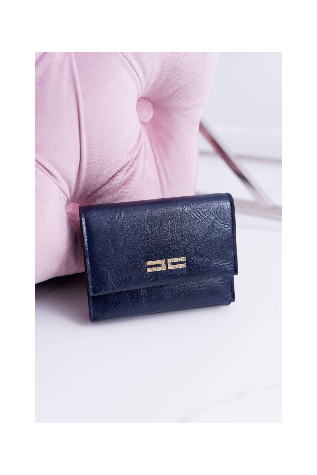 Dámska Peňaženka Klasická Malá Tmavá Modrá Na Magnet