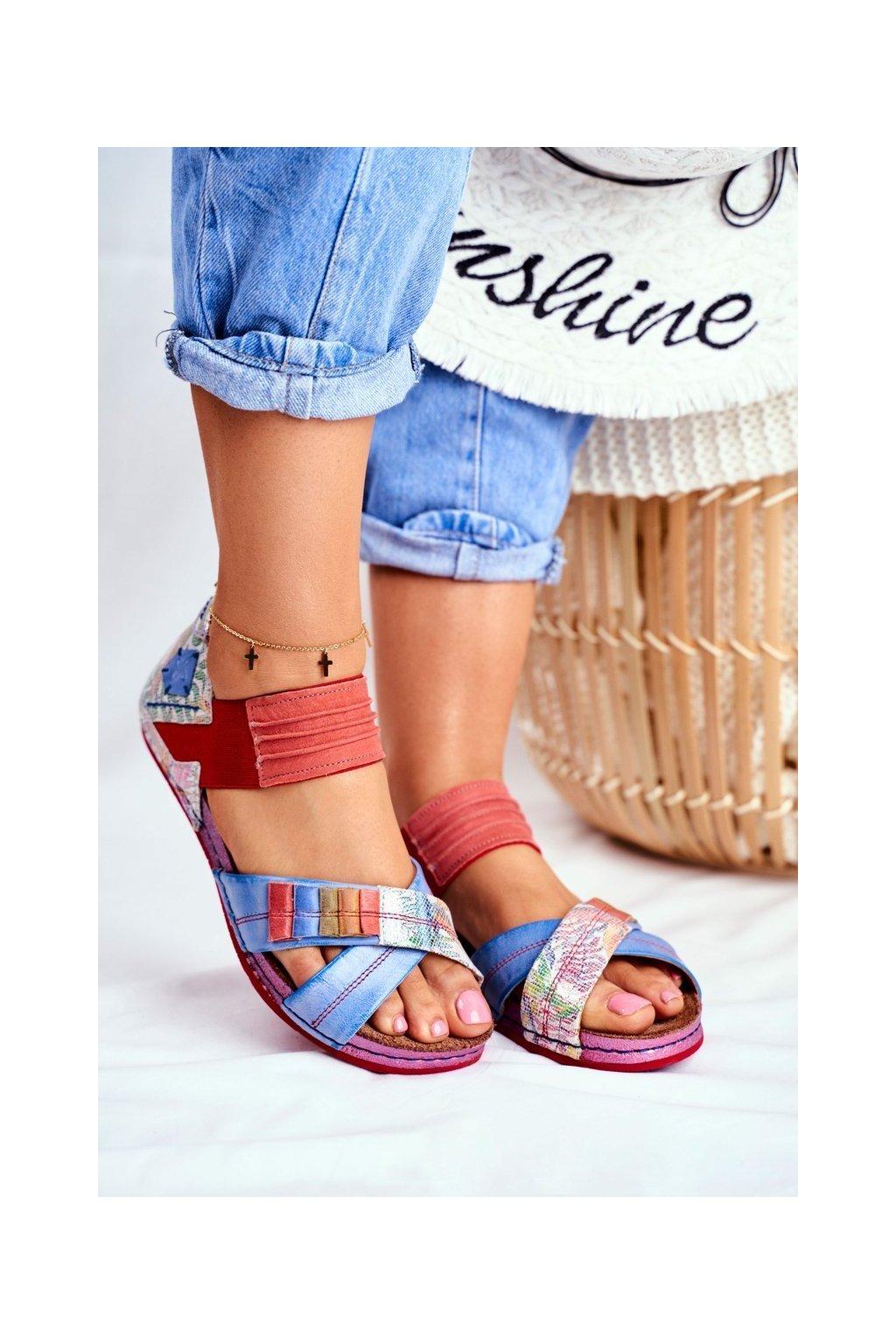 Dámske sandále farba viacfarebná kód obuvi 03375-38 MULTI