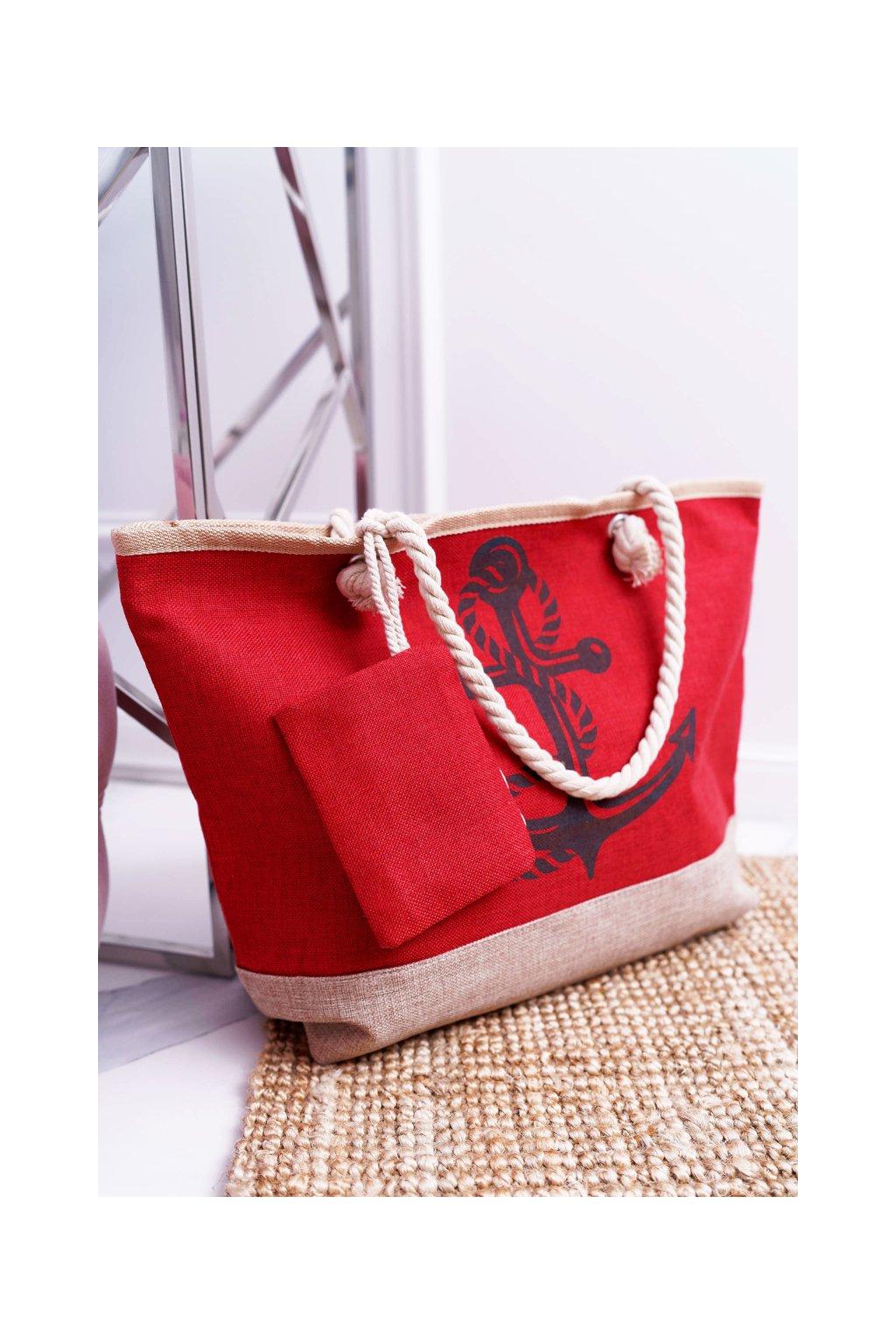 Plážová červená kabelka