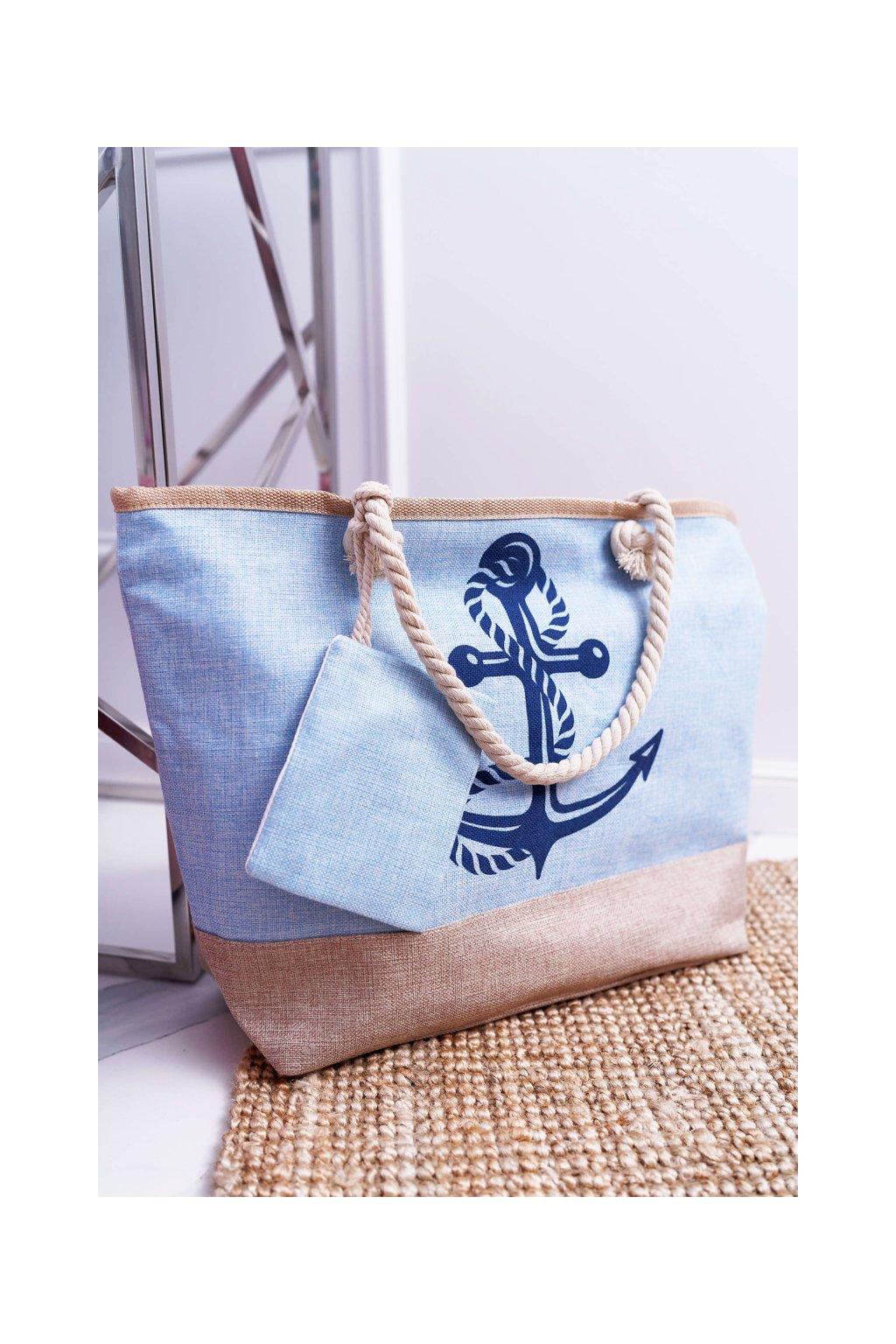 Plážová modrá kabelka