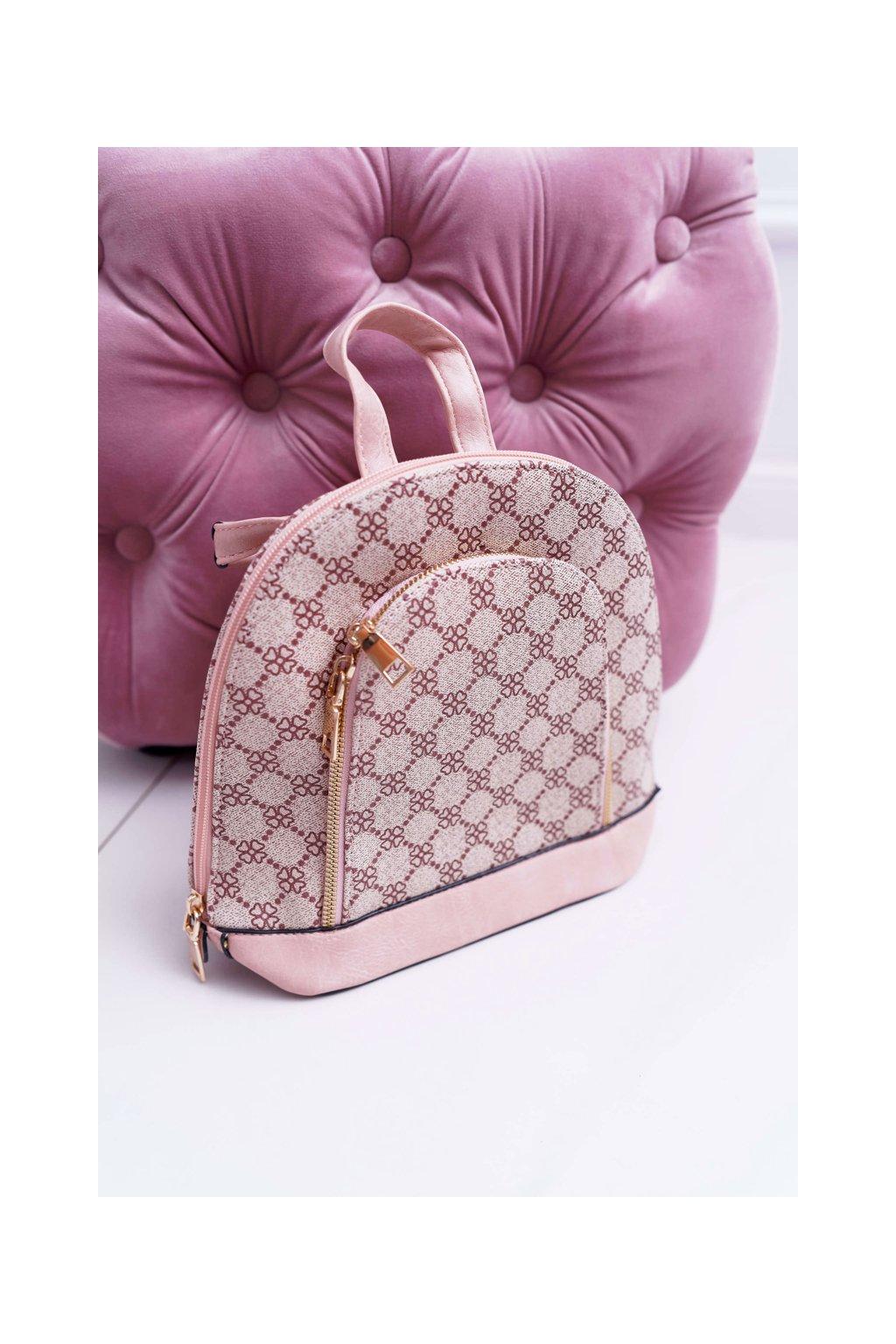 Klasický Dámsky batoh ružový