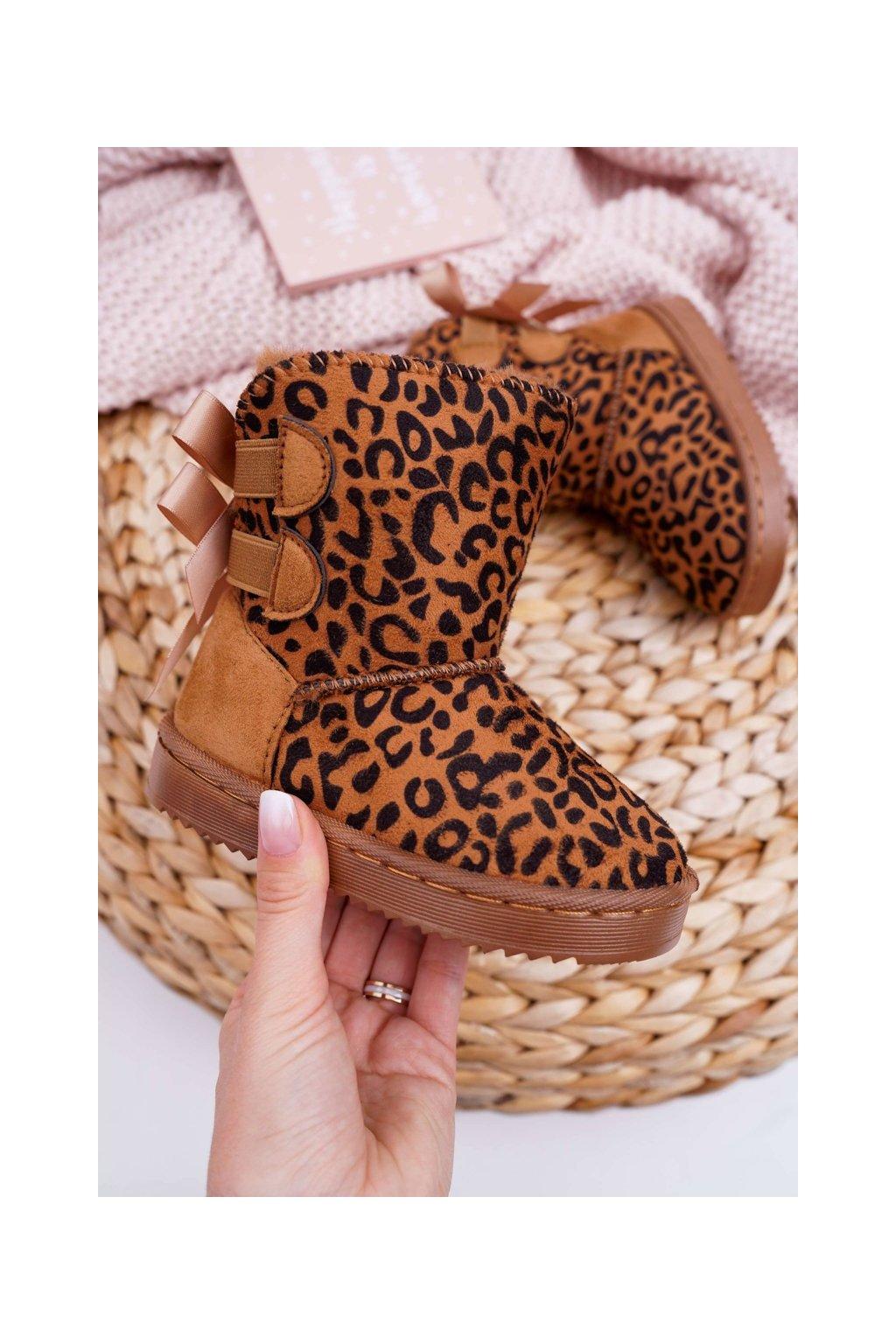 Detské snehule farba hnedá kód obuvi 20230-1D/2D CAMEL