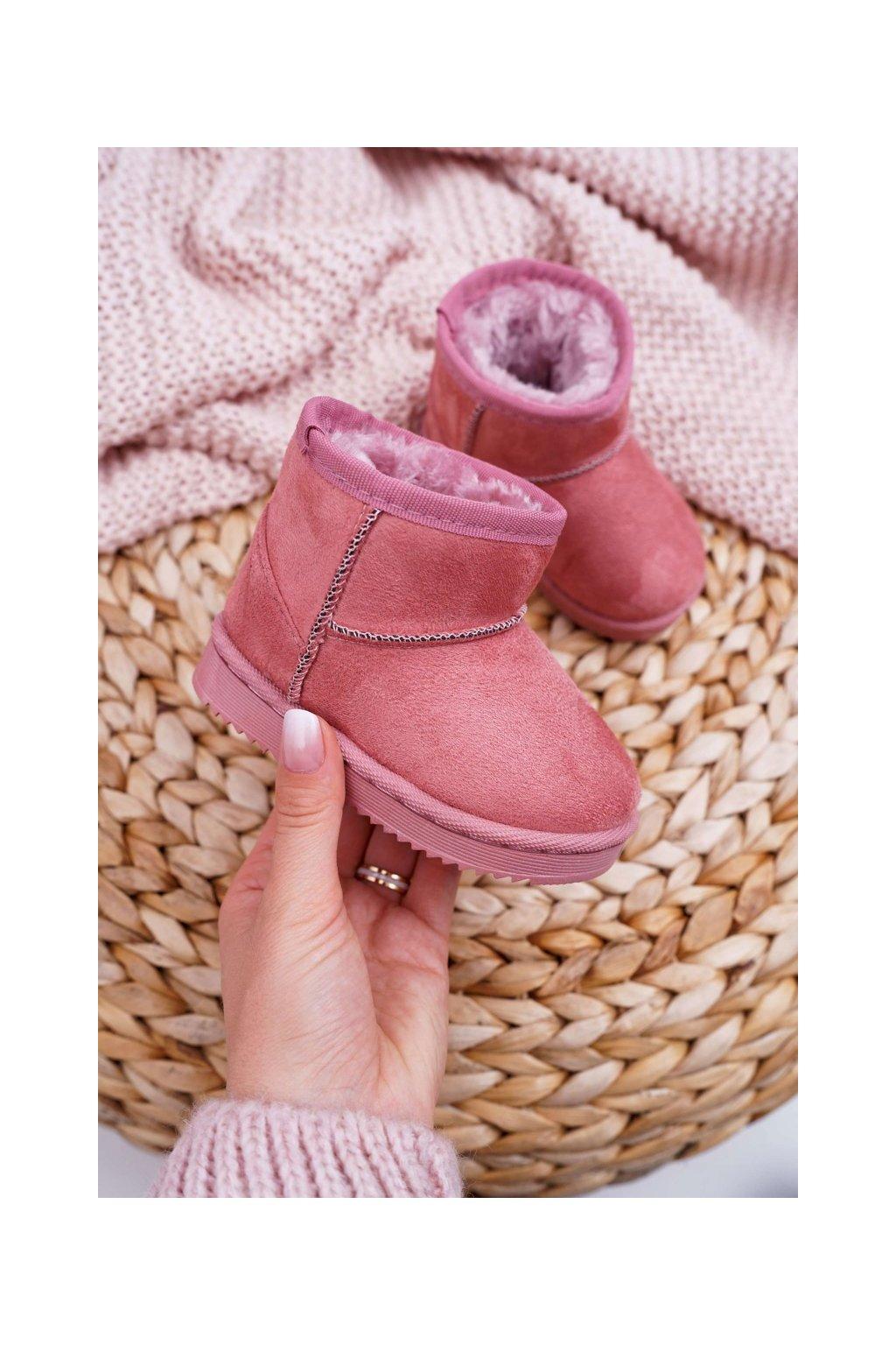 Detské snehule farba ružová kód obuvi 20213-1A/2A PINK