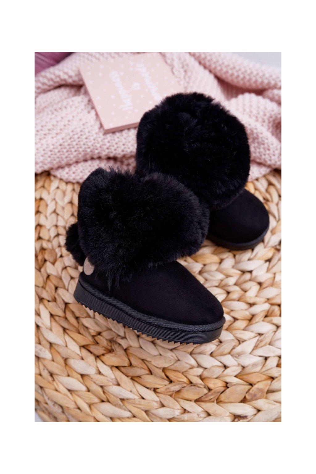 Detské snehule farba čierna kód obuvi 20232-1A/2A BLK