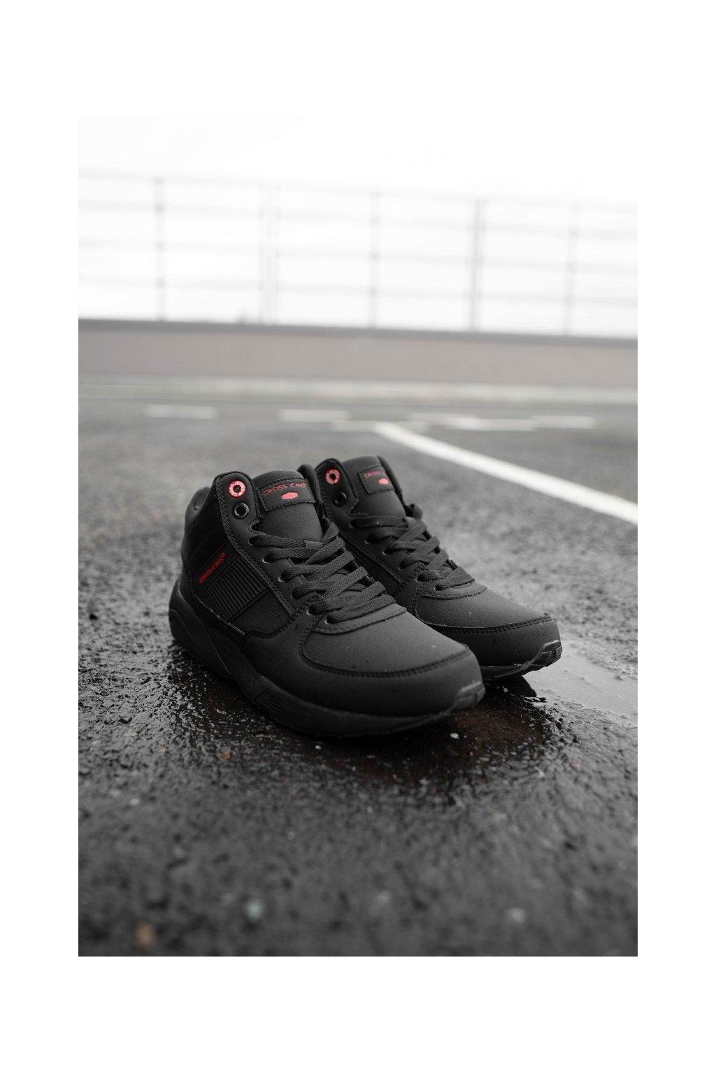 Pánske trekingové topánky farba čierna kód obuvi EE1R4121C BLK