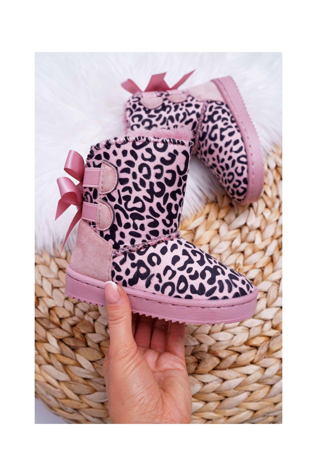 Detské snehule farba ružová kód obuvi 20230-CD/2C PINK
