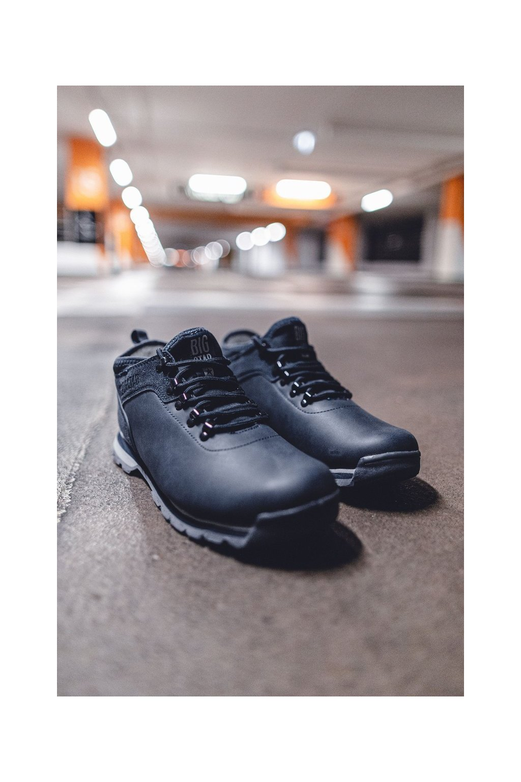Pánske trekingové topánky farba modrá kód obuvi EE174443 NAVY