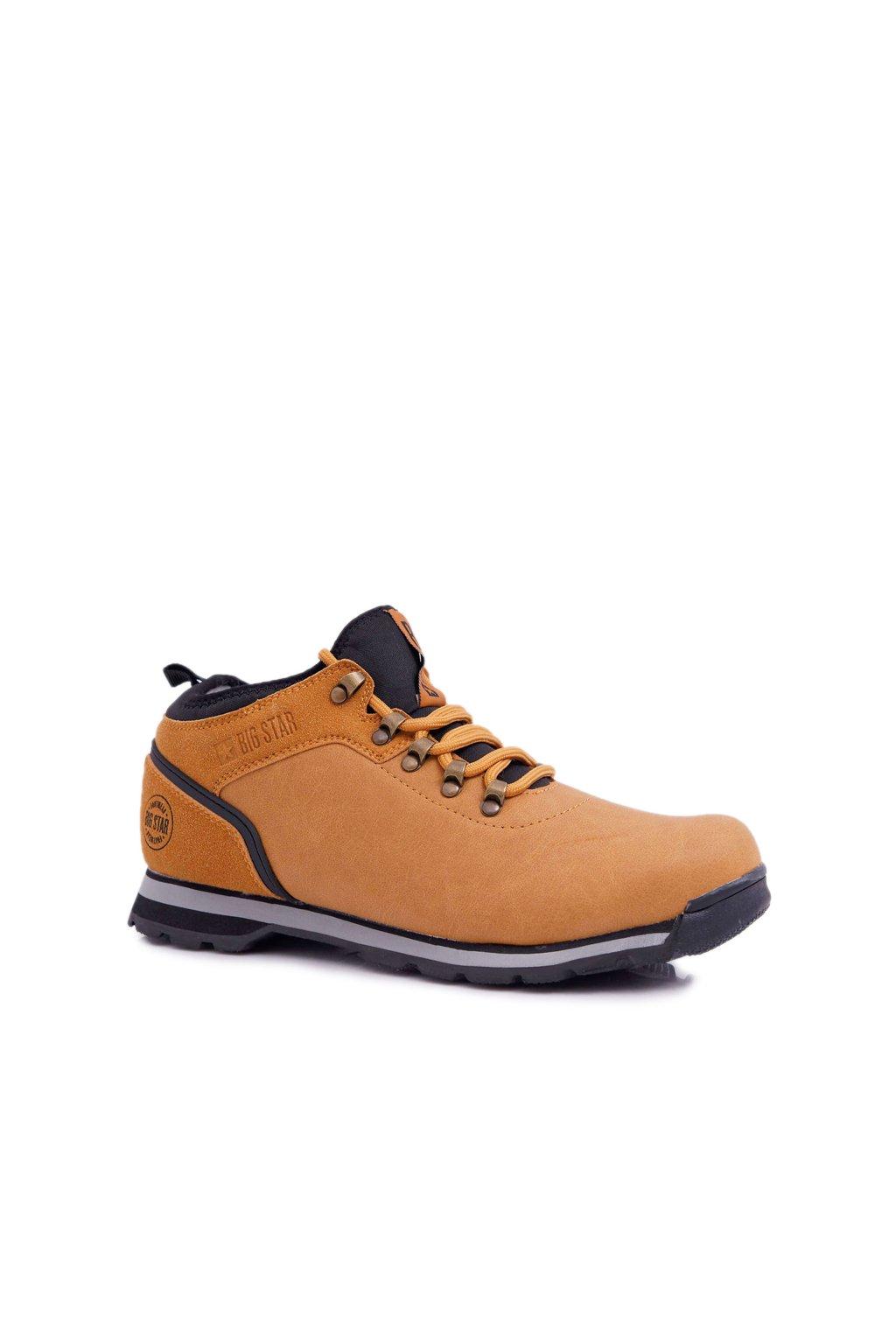 Pánske trekingové topánky farba hnedá kód obuvi EE174442 CAMEL