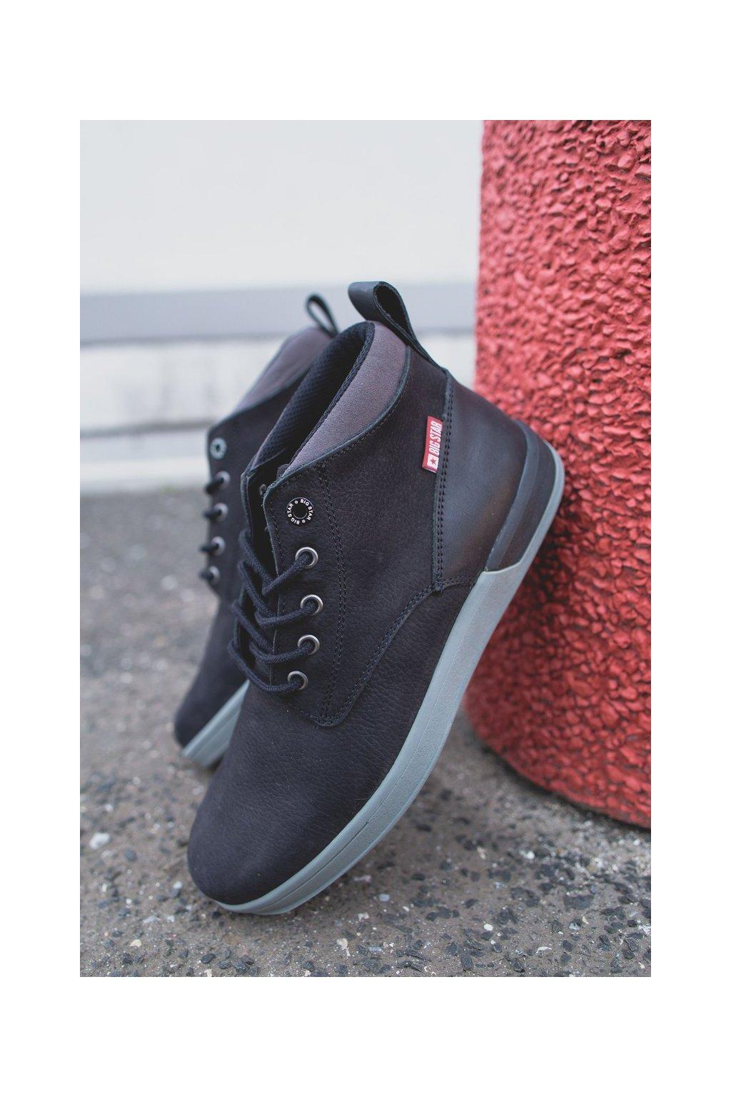 Pánske topánky na zimu farba čierna kód obuvi EE174197 BLK