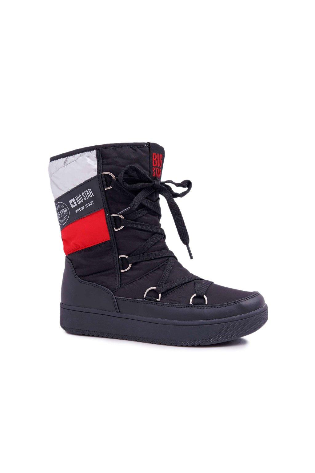 Dámske snehule farba čierna kód obuvi EE274656 BLK