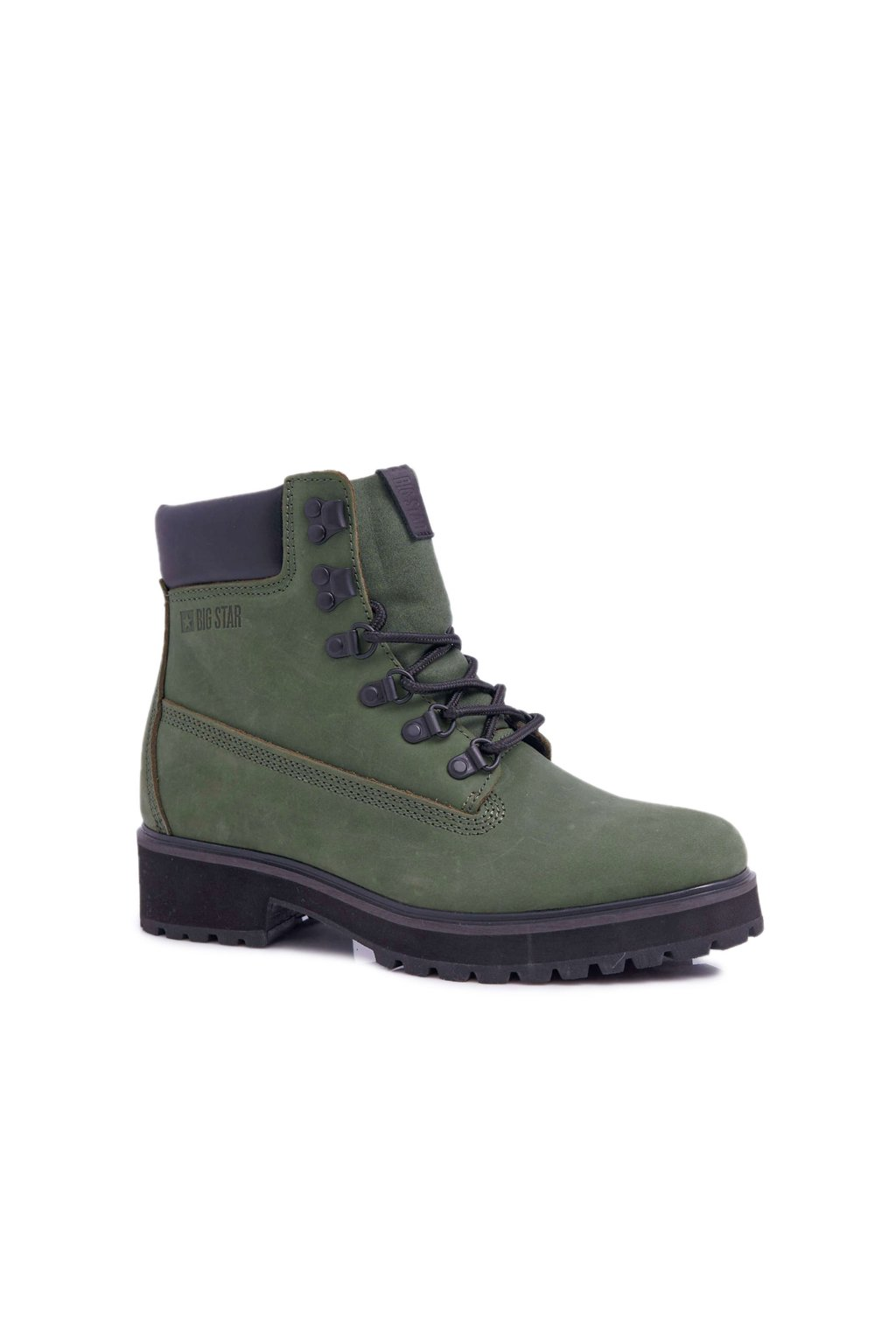 Členkové topánky na podpätku farba zelená kód obuvi EE274031 GREEN