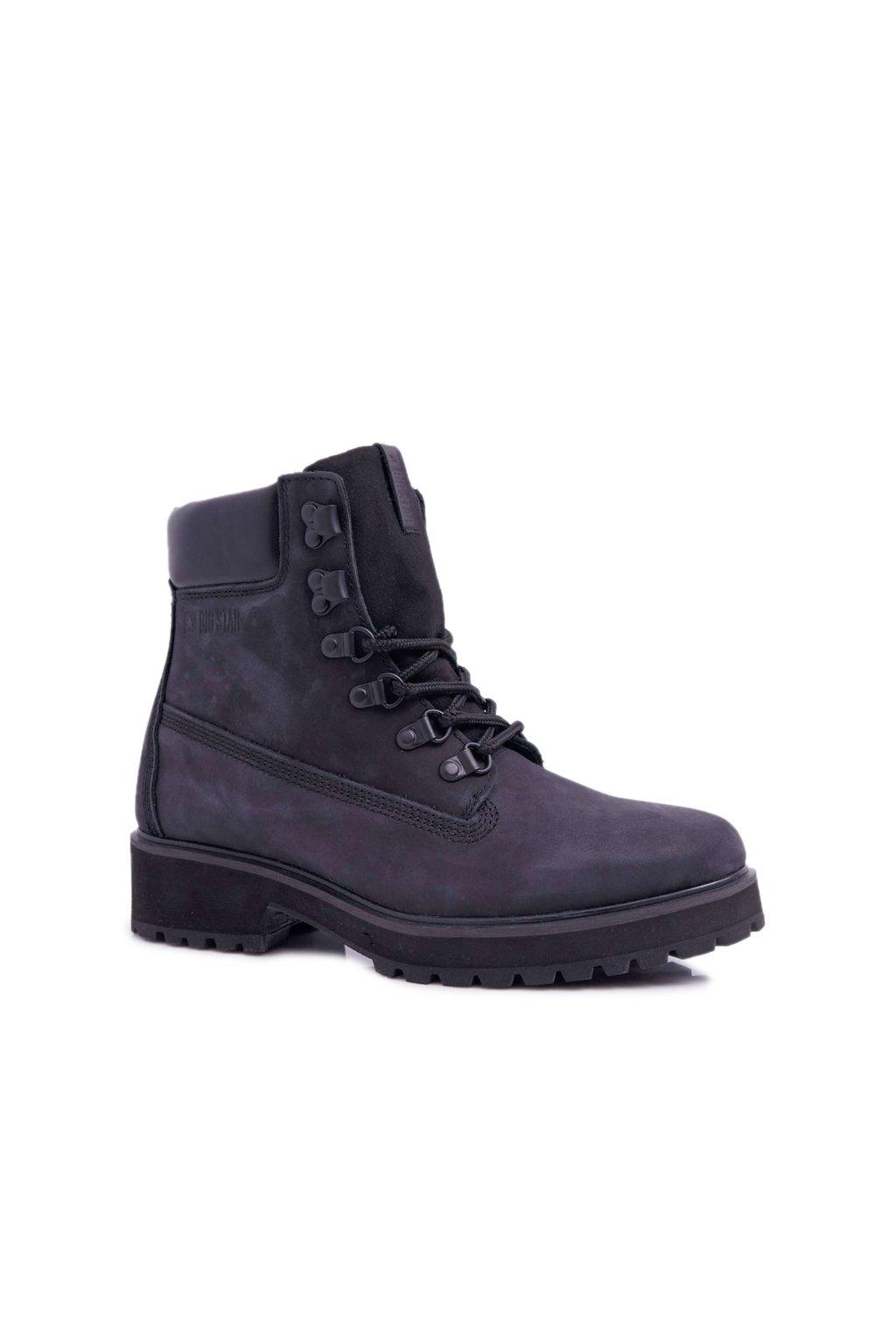 Členkové topánky na podpätku farba čierna kód obuvi EE274033 BLK