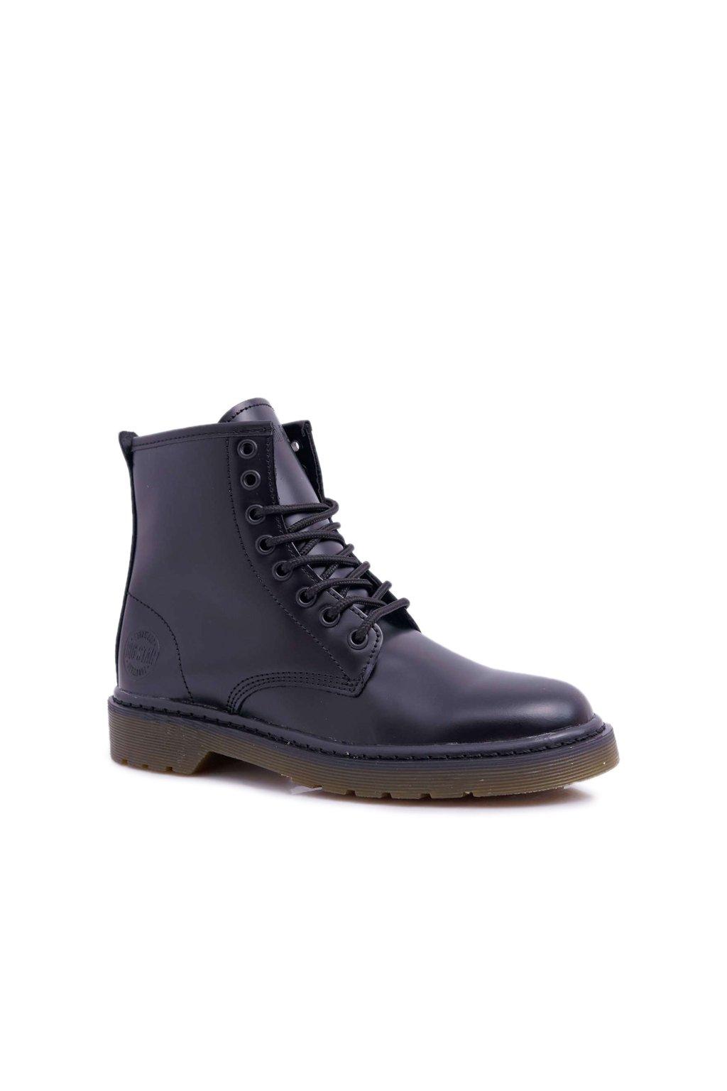 Členkové topánky na podpätku farba čierna kód obuvi EE274001 BLK