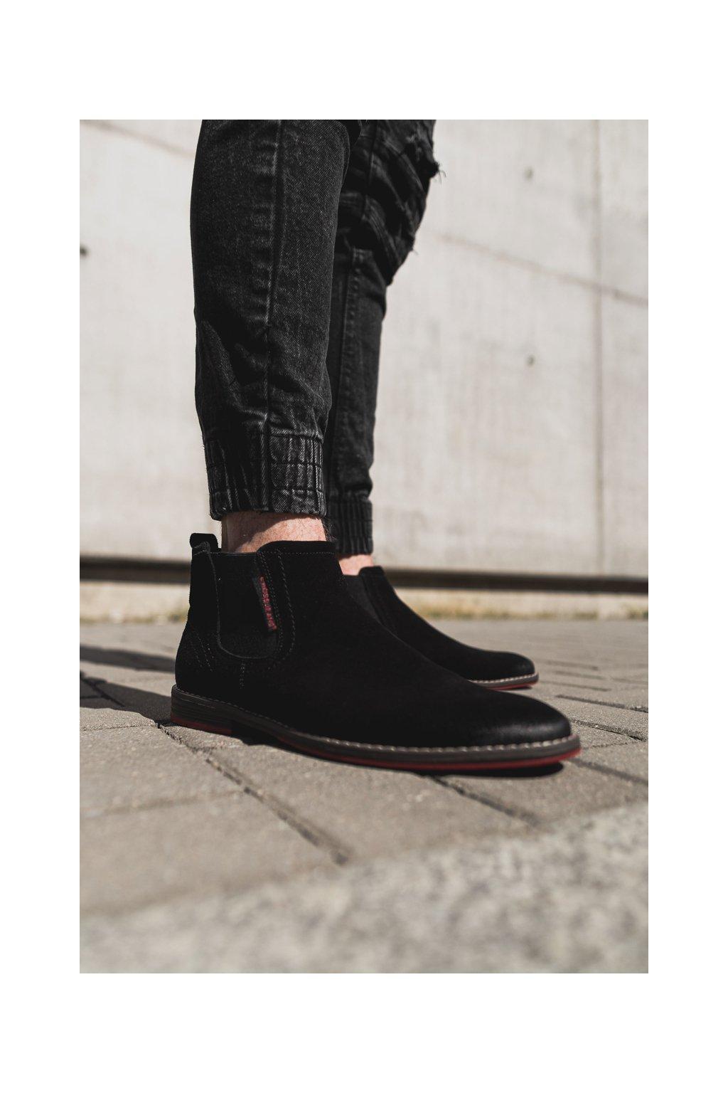 Pánske topánky pérka Cross Jeans čierne EE1R4066C